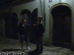 European amateur jerking after blowjob