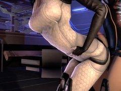 Mass Effect Futanari Anal Tease (3D Animated)