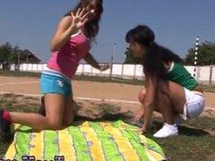 Hidden camera teen blowjob Sporty teens eating each other