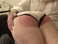 Spanked by her male friend