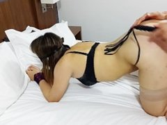 Young Teen Couple Sex With Spanking!! POV!!