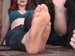 Tickling Andrea Rosu´s feet
