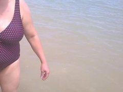 Tetona en la playa