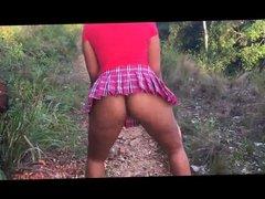 Short Skirt No panties