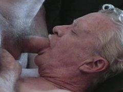 2 Grandpas play and cum