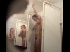 Soaping Amateurs spied in Public shower Room