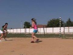 Asian teen hospital full length Sporty teens munching each other