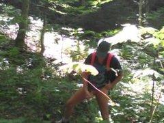 Forest voyeur edging jerk off session #2