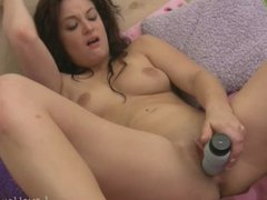 Cock shaped dildo for her pink love tube