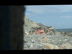 Beach Sex mit Cumshot