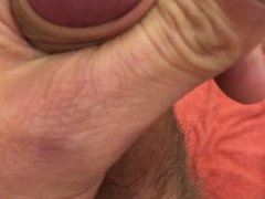 late mastrubation with cumshot in public at work