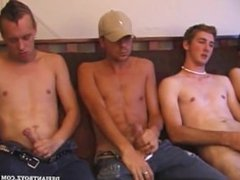 Circle Jerk Cum Facial Surprise