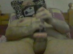 Guy jerking hard and cum in Fleshlight