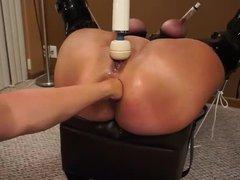 Fisting the ass of an udder bound PAWG piggy