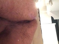 Ramming my ass hard in the shower
