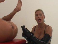 Mistress Fingering Slave Ass