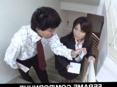 Upskirt show with cock sucking Kana Shimada