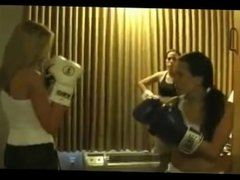 Boxing Chrissie & Ashley vs Devon & Angelina (part 2)