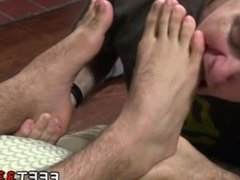 Gay men urinating on feet in looking off Ricky Larkin Shoots His Load As