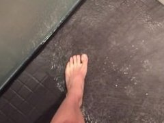 Showing you my feet in the shower