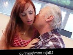 Sex lover grandpa Gustavo fucking young pussy in porn casting