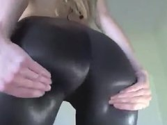 sexy american in sexy leggings