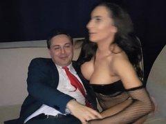 Ballbusting: Nyssa Nevers destroys the balls of Andrea Diprè
