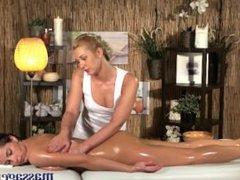 Massage Rooms Young big tits lesbian enjoys hot blonde teen sex