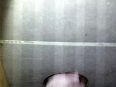 Wife giving homemade gloryhole head