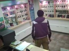 Prick with boner in mobile store PublicFlashing.me