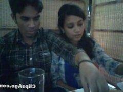 Fondling in restaurant