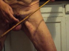 A cock and ball caning