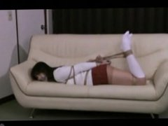 Japanese amateur hogtied and tapegagged
