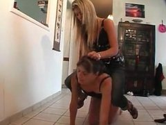 Dominant girl bullies her ugly mother --- Lezdom