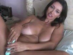 Sexy cougar masturbating