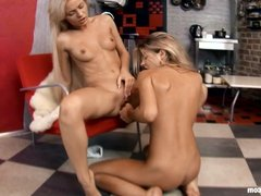 Slender Twosome by Sapphic Erotica - lesbian love porn with
