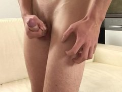 Young and Hung Patrik Senoda Jacking His Uncut Cock