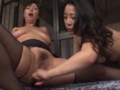 Multiple asians in pantyhose tribbing