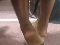 Candid Beautiful Ebony Feet in Church(Cut Ver.)