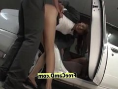 Japanese big tits wife fuck in the car