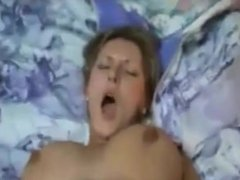Busty amateur sucks and fucks on home video