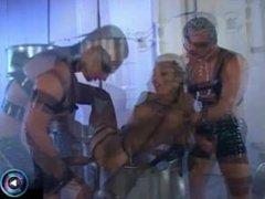 Hot blonde Sharka Blue getting kinky in threesome
