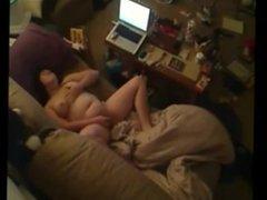My toying BBW mom on spy camera