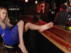 Footsie in saloon