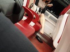Asian Woman Flats Shoeplay