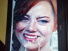 Emma stone MESSY cumtribute