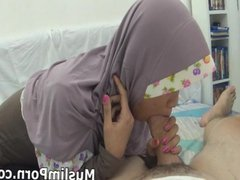Teenage Muslim girl sucking my white dick MuslimPorn-com