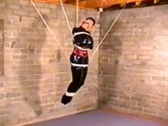 rubber girl in bondage