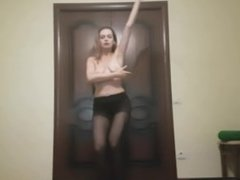Dancing in Sexy Pantyhose