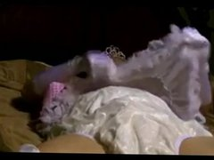 diapered sissybaby princess  triple diapered on webcam
